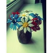 Букет полевых цветов из бисера фото