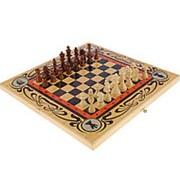 """Набор 3 игры """"Статус"""" (шахматы, нарды шашки, игральная складная доска 50x50 см.) фото"""