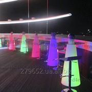 Аренда конусного стола с LED подсветкой фото