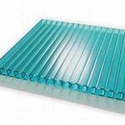 Сотовый поликарбонат 16 мм бирюза Novattro 2,1x12 м (25,2 кв,м), лист фото