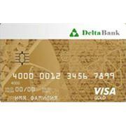 Банковская карта VISA Gold фото