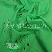 Ткань Батист вышивка ( зеленый ) 1283 фото