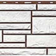 Фасадные панели T-Сайдинг, коллекция «Дикий камень» белый, 1090х455 фото