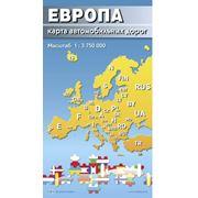 Карта автомобильных дорог. Европа фото