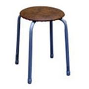 """Табурет """"Классика 1"""", круглое сиденье d30см, коричневый фото"""