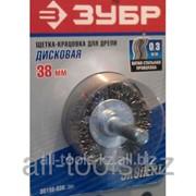 Щетка Зубр Эксперт дисковая для дрели, витая стальная проволока 0,3мм, 75мм Код:35198-075_z01 фото