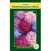 Семена цветов Астра пионовидная смесь. Опт фото