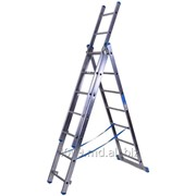 Лестница алюминиевая трёхсекционая 7,11 м. 3 х 11 - Scara cu trei tronsoane - код.товара 7611 фото