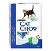 Корм Cat Chow Feline 3 in 1 с формулой тройного действия 0,4 кг фото