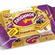 Пирожное Любимое бисквитное с ягодным вкусом, Рот Фронт, 210 гр. фото