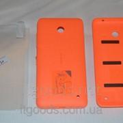 Крышка задняя оранжевая для Nokia Lumia 630 | 635 | 636 | 638 + ПЛЕНКА В ПОДАРОК 3115 фото
