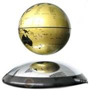 Парящий глобус 10см (золотой) фото