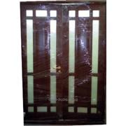 Дуб темный, двери межкомнатные в дом фото
