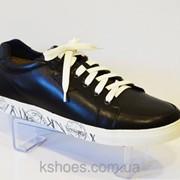 Мужские черные туфли Faber 125002 фото