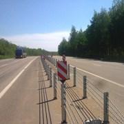 Тросовое дорожное ограждение (ТДО) фото