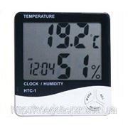 Цифровой термометр часы гигрометр LCD 3 в 1, комнатный термометр фото