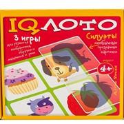 Пластиковое лото. Силуэты (4+) Комплект из трех игр фото