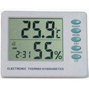 Термометр-гигрометр со встроенными часами AMST-106 фото