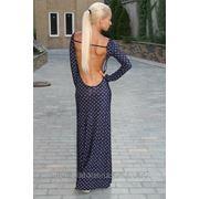 Платье трикотаж открытая спина фото