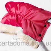 Муфта для коляски, цвет красный фото