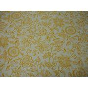 Бифлекс белый с желто-оранжевым принтом фото