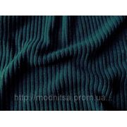 Трикотаж рубчик (морская волна) фото