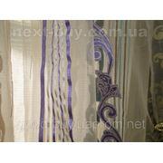 Тюль Органза Lines 4 - Узор с полосками Турция 2535-3 -1 фото