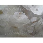 Тюль Молочна-белая роза - органза стканью 100214-ЛА -1 фото