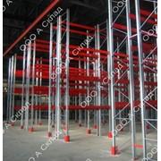 Фронтальные стеллажи для склада фото