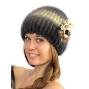Меховые головные уборы на трикотажной основе из норки, чернобурки, песца, енота, блюфроста фото