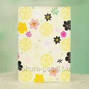 Обложка на Паспорт / Цветочки Желтые / Экокожа x00046 фото