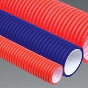 Труба гофрированная двустенная ПНД/ПВД d50 красная (50м) фото