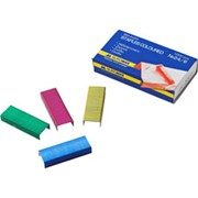Скобы для степлеров цветные Buromax №24 фото