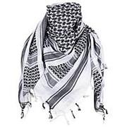 Арафатка шарф 110х100 см. черно-белая фото