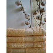 Махровые полотенца гладкокрашеные 50х100 фото