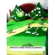 Бязь ш.2.2 Японское солнце зеленое фото