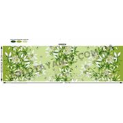 Ткань бязь с лилией зеленой фото