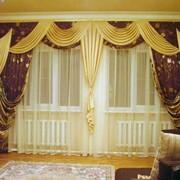 Пошив штор, ламбрекенов, покрывал, подушек, Услуги по пошиву фото