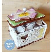 Каттер Шкатулка с цветком и сердечком, код 793 фото