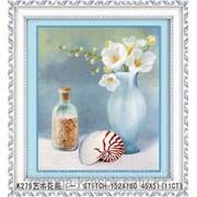 Картина стразами в 3Д Натюрморт с ракушкой 43ч55 см фото