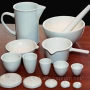 Лабораторная посуда из фарфора фото