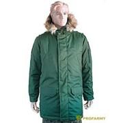 Куртка зимняя офисная олива фото