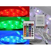 Светодиодная лента 16 цветная 3м + пульт 24 ключа фото