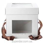 Коробка для торта, 250Х250Х250 мм, белая фото