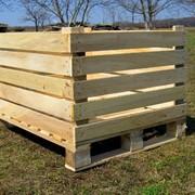 Евротара деревянная, контейнеры для фруктов и овощей фото