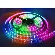 Светодиодная лента SMD 5050-RGB, 60 светодиодов на 1 м фото
