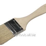 Кисть флейцевая, деревянная ручка 75мм фото