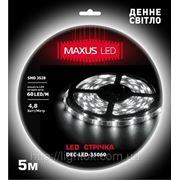 Светодиодная лента SMD3528 60 LED/M бел.хол./част.герм./бел.основа фото