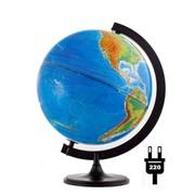 Глобус физико-политический, 32 см, с подсветкой, на кругл. подст., (Глобусный мир) фото