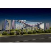 Объекты криволинейной архитектуры в г. Астана фото